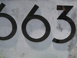 Alumabond House Number