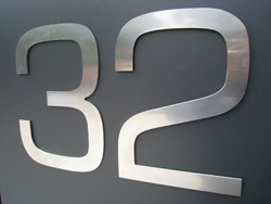 Large Aluminium House Numbers