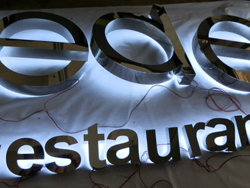 Back Lit Stainless Steel Letters