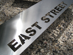 Lasercut Stainless Steel Number with welded pins