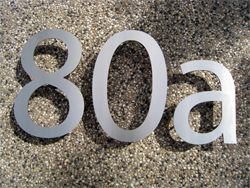 Lasercut Stainless Steel Numbers with welded pins