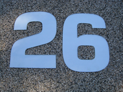 Lasercut stainless steel house numbers