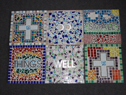 Cut Letters Used in Mosaic Art